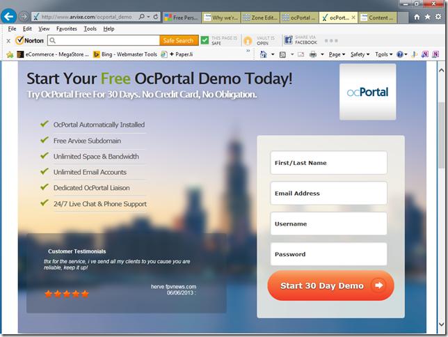 Composr free demo