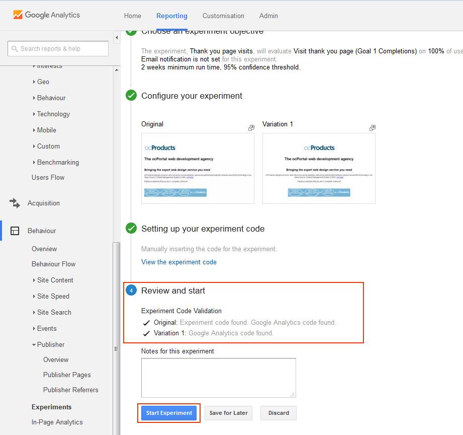 composr tutorial analytics and split testing u2013 using google