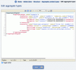 Editing the aggregate type XML