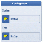 Upcoming events via the listing mode of the <kbd>side_calendar</kbd> block