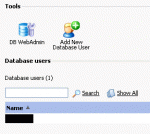 phpMyAdmin as found in the Plesk hosting control panel